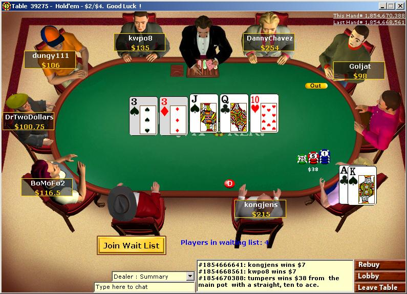 free online poker games no money