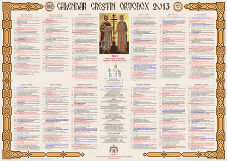 Calendar ortodox 2013: Iata cand sunt marile sarbatori ...